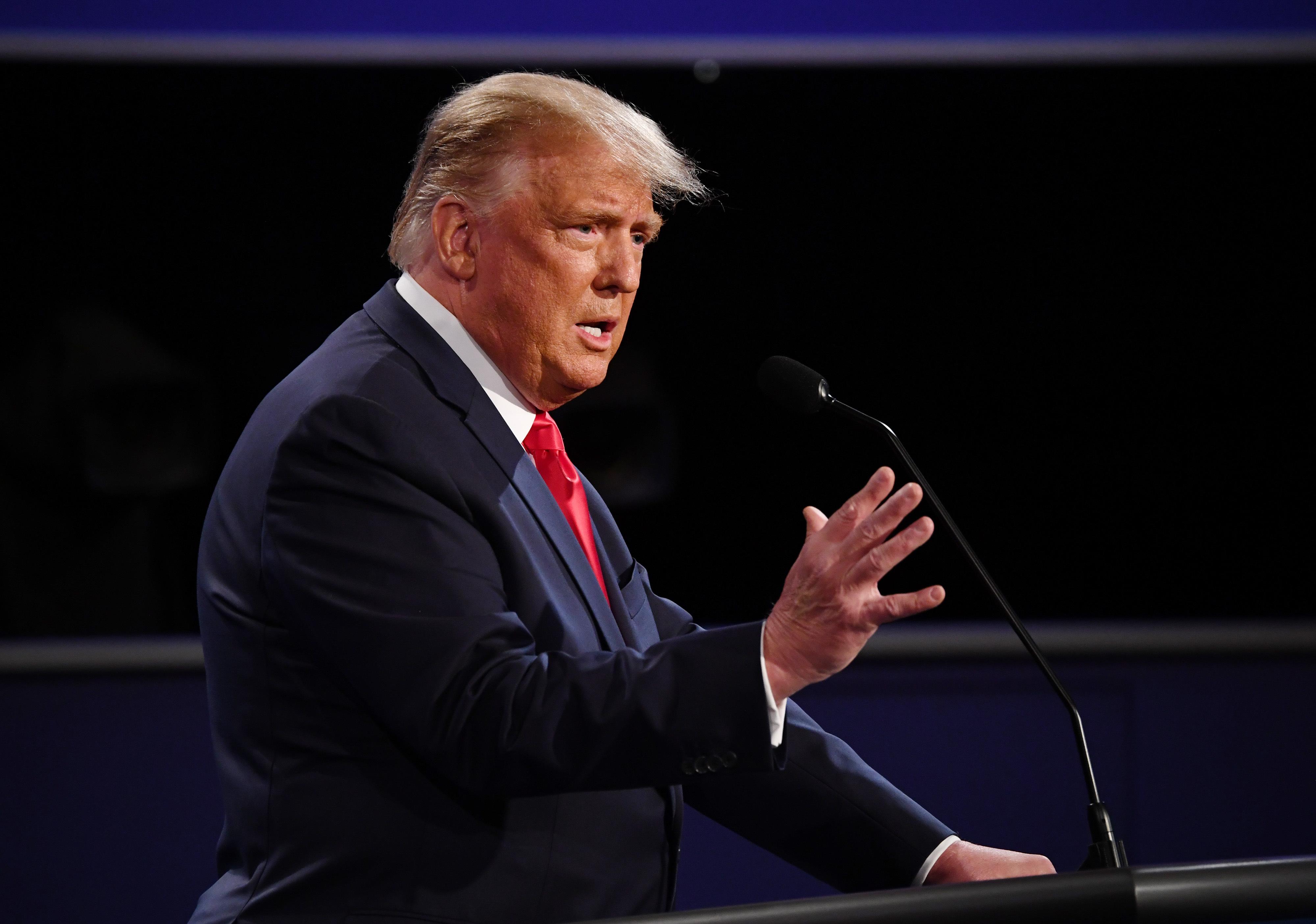 Donald Trump se comparó con Abraham Lincoln durante el debate