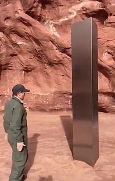 Los oficiales de vida silvestre vieron por primera vez la extraña estructura en medio de un desierto de Utah