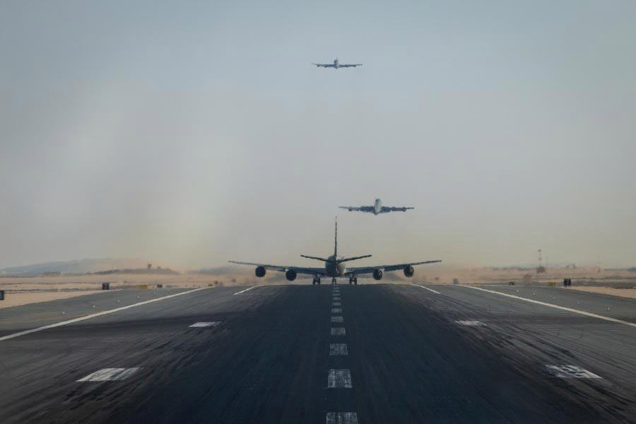 Al menos tres bombarderos pesados estadounidenses han llegado a Oriente Medio