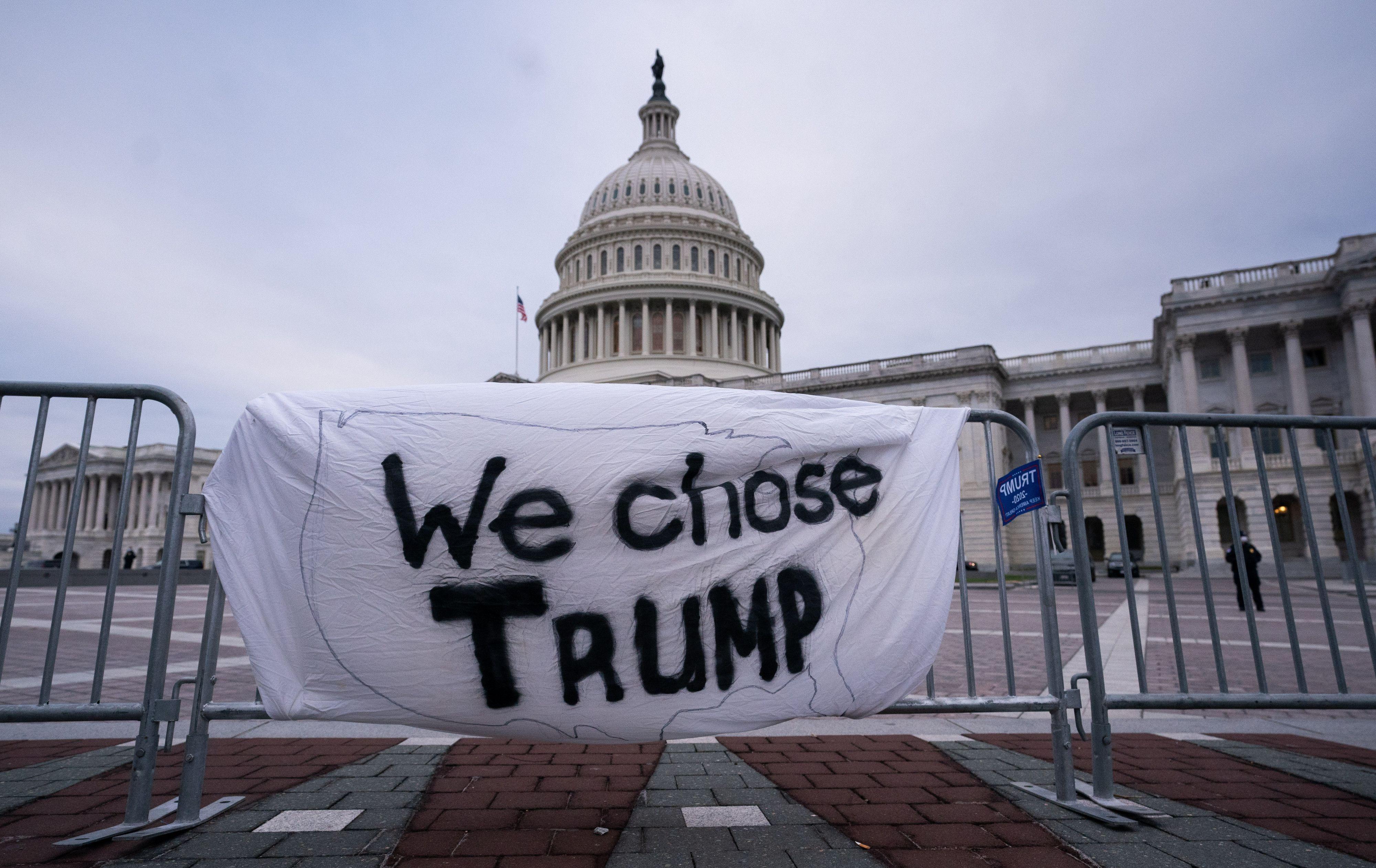 Algunos partidarios de Trump se negaron a aceptar la victoria de Biden