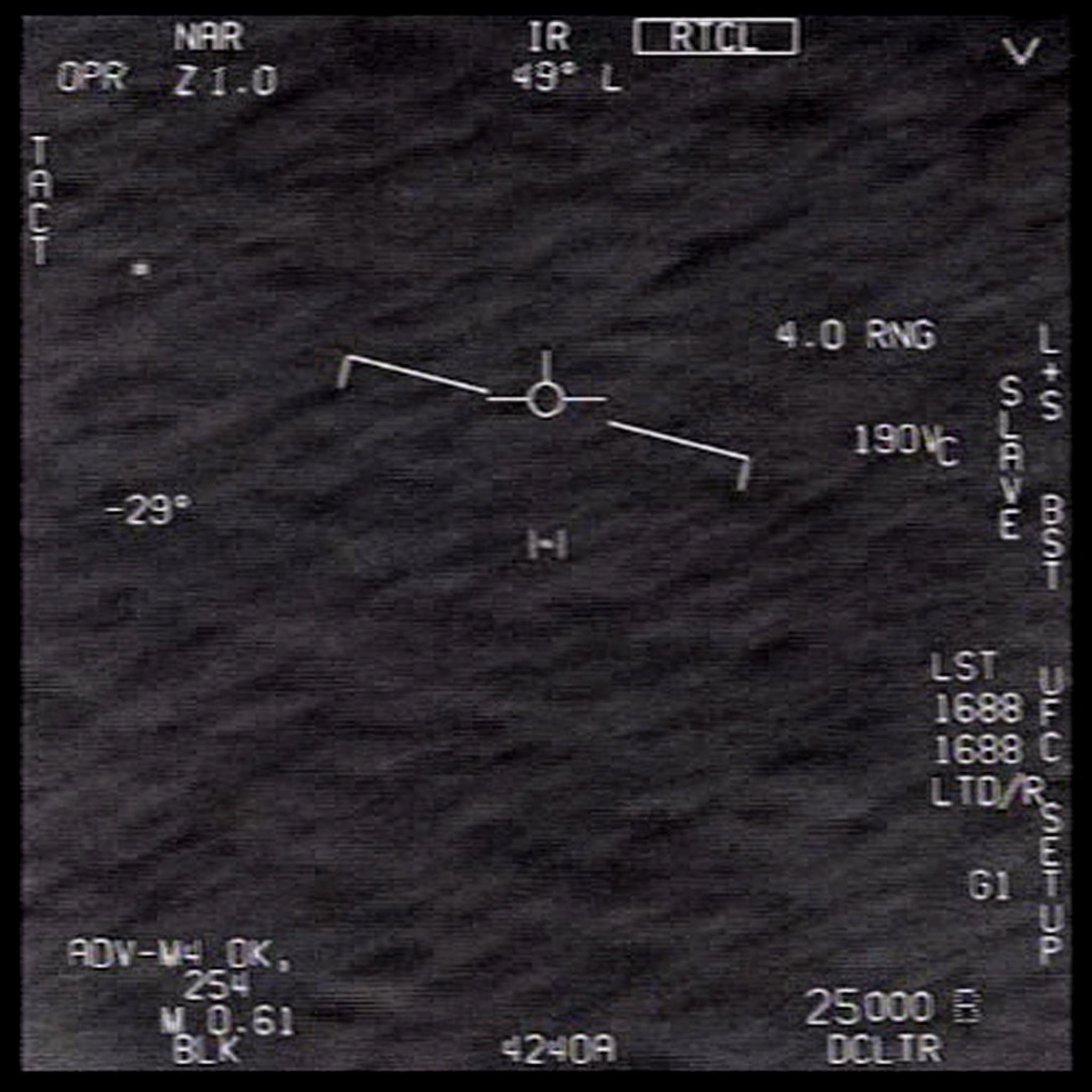 Cuatro objetos desconocidos fueron vistos en vuelo en una zona de alerta frente a la costa de Carolina del Norte en 2018.