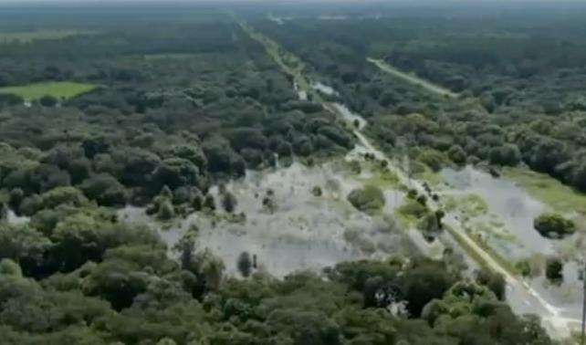 Imágenes de drones muestran una extensión masiva del área de búsqueda de Florida